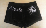 Personalised shorts with a Shooting star